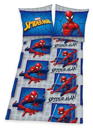 Spiderman Bettwäsche 135 x 200 cm Marvel Wende blau Flanell Baumwolle – Bild 1