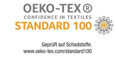 2er Pack Seitenschläferkissen Bezug 40 x 145 cm schwarz Uni Baumwolle – Bild 4