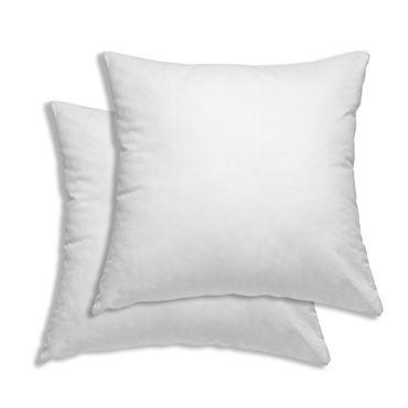 2er Pack Kissenbezug Kissenhülle 40 x 40 cm weiß Uni Baumwolle – Bild 1