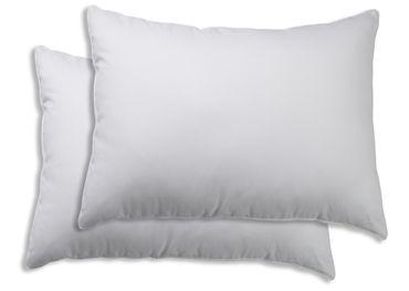 2er Pack Kissenbezug Kissenhülle 50 x 70 cm weiß Uni Baumwolle – Bild 1