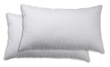 2er Pack Kissenbezug Kissenhülle 40 x 80 cm weiß Uni Baumwolle – Bild 1