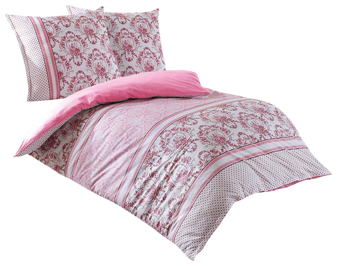 3 tlg wende bettw sche 200x220 cm blumen rosa pink baumwolle renforce ebay. Black Bedroom Furniture Sets. Home Design Ideas