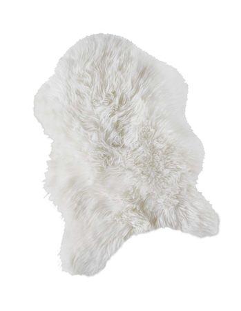Schaffell Läufer Teppich weiß 55x80cm Sofa Stuhl Matte Tier Kunst Fell – Bild 2