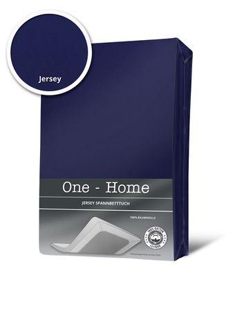 Spannbettlaken Spannbetttuch navyblau marineblau  140x200 cm - 160x200 cm Jersey – Bild 1