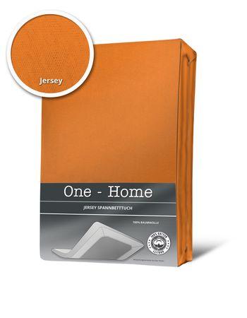 Spannbettlaken Spannbetttuch orange  terracotta 140x200 cm - 160x200 cm Jersey – Bild 1