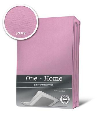 Spannbettlaken Spannbetttuch rosa 140 x 200 cm - 160 x 200 cm Jersey Baumwolle – Bild 1