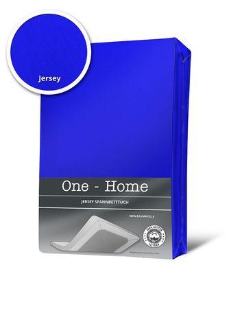 Spannbettlaken 180x200 cm - 200x200 cm royal blau königsblau Jersey Baumwolle – Bild 1
