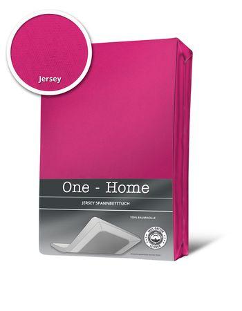 Spannbettlaken Spannbetttuch magenta pink 180 x 200 cm - 200 x 200 cm Jersey – Bild 1