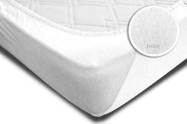 2 Spannbettlaken Boxspring Wasserbett weiß 180x200 cm - 200x220 cm Jersey Set – Bild 4