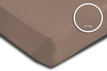 Topper Spannbettlaken Bettlaken taupe nougat 180x200 cm - 200x200 cm Jersey – Bild 3