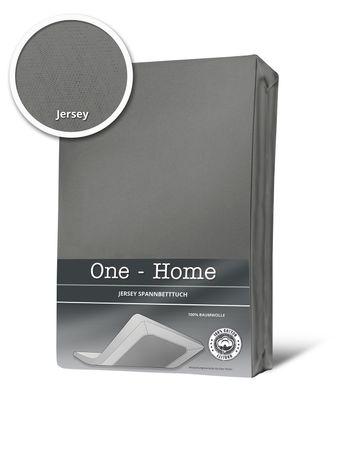 Topper Spannbettlaken Bettlaken grau 180x200 cm - 200x200 cm Jersey Baumwolle – Bild 1
