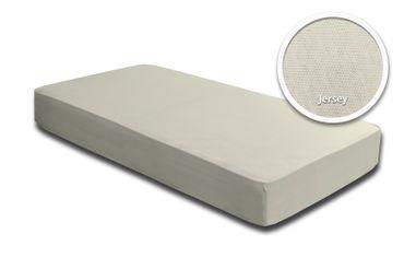 2er Pack Spannbettlaken Bettlaken wollweiß natur 90x200 cm - 100x200 cm Jersey – Bild 2