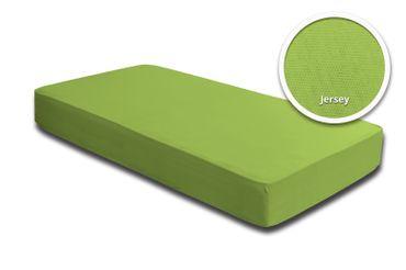 2er Pack Spannbettlaken Bettlaken grün 90x200 cm - 100x200 cm Jersey Baumwolle – Bild 2