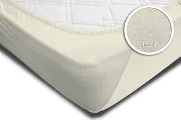 2er Set Spannbettlaken Bettlaken wollweiß creme 140x200 cm - 160x200 cm Jersey – Bild 4