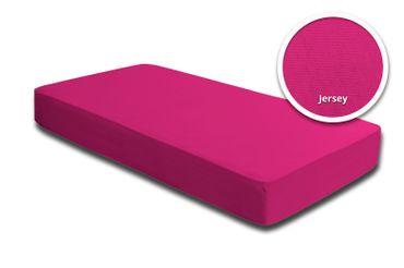 2er Set Spannbettlaken Bettlaken pink magenta 140 x 200 cm - 160 x 200 cm Jersey – Bild 2
