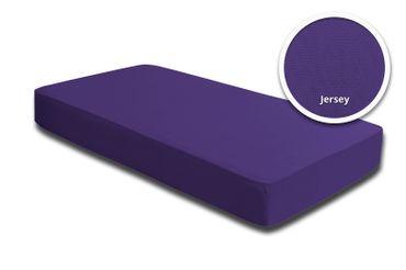 2 Spannbettlaken Bettlaken lila violett 180 x 200 cm - 200 x 200 cm Jersey Set – Bild 2