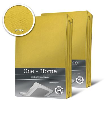 2 Spannbettlaken Bettlaken gelb mais 180 x 200 cm - 200 x 200 cm Jersey Set – Bild 1