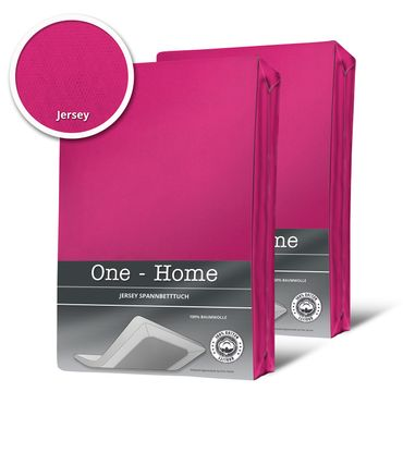 2 Spannbettlaken Bettlaken pink magenta 180x200 cm - 200x200 cm Jersey Set – Bild 1
