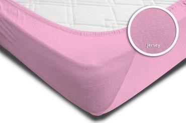 2 Spannbettlaken Bettlaken 180x200 cm - 200x200 cm rosa rose fuchsia Jersey Set – Bild 4