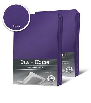 2 Spannbettlaken Boxspringbett Wasserbett violett 180x200 cm - 200x220 cm Jersey – Bild 1