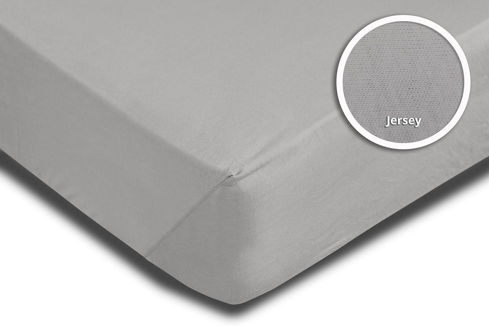 2 topper spannbettlaken silber 140x200 cm 160x200 cm jersey baumwolle set ebay. Black Bedroom Furniture Sets. Home Design Ideas
