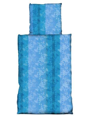 2 teilig Bettwäsche 155x220cm blumen türkis hell dunkel blau abstrakt Microfaser – Bild 1