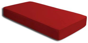 Spannbettlaken rot 140x200 cm - 160x200 cm Microfaser Spannbetttuch – Bild 2