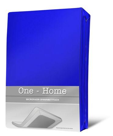 Spannbettlaken royal blau 180x200 cm - 200x200 cm Microfaser Spannbetttuch – Bild 1