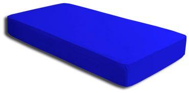 2 Spannbettlaken royal blau 90x200 cm - 100x200 cm Microfaser Spannbetttuch Set – Bild 2