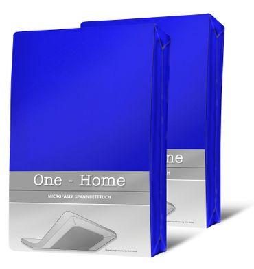 2 Spannbettlaken royal blau 90x200 cm - 100x200 cm Microfaser Spannbetttuch Set – Bild 1