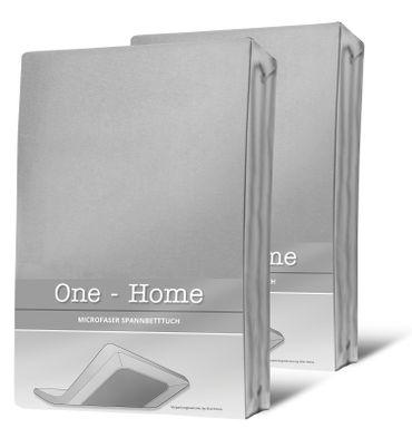2 Spannbettlaken silber 90x200 cm - 100x200 cm Microfaser Spannbetttuch Set – Bild 1