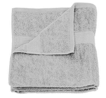 Handtuch silber 50x100 cm Baumwolle schnelltrocknend Frottee Frottiertuch – Bild 1
