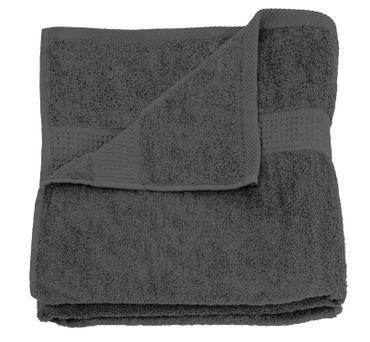 Handtuch anthrazit graphit 50x100 cm Baumwolle schnelltrocknend Frottee – Bild 1
