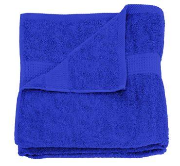 Duschtuch royal blau 70x140 cm Baumwolle schnelltrocknend Frottee Frottiertuch – Bild 1