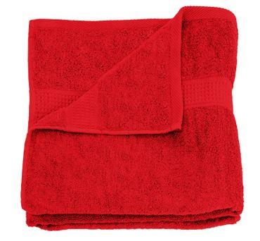 Duschtuch rot 70x140 cm Baumwolle schnelltrocknend Frottee Frottiertuch – Bild 1
