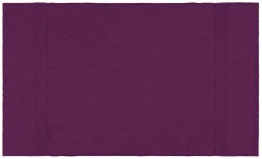Badetuch lila 100x150 cm Baumwolle schnelltrocknend Frottee Frottiertuch groß – Bild 2