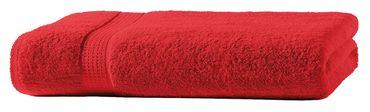 Badetuch rot 100x150 cm Baumwolle schnelltrocknend Frottee Frottiertuch groß – Bild 3