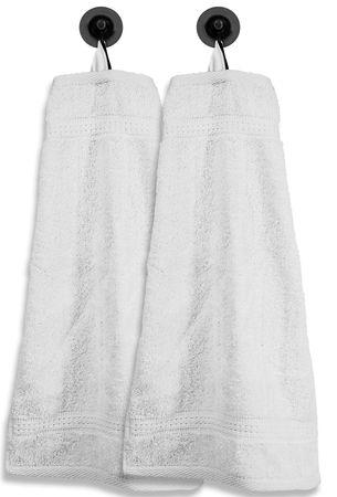 2 Gästetücher Gästehandtücher weiß 30x50 cm Set Baumwolle Handtücher Frottee – Bild 1