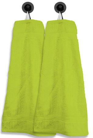 2 Gästetücher Gästehandtücher grün 30x50 cm Set Baumwolle Handtücher Frottee – Bild 1