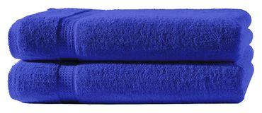 2 Handtücher royal blau 50x100 cm Set Baumwolle Handtuch Frottee flauschig weich – Bild 1