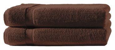 2 Handtücher braun 50x100 cm Set Baumwolle Handtuch Frottee flauschig weich – Bild 1