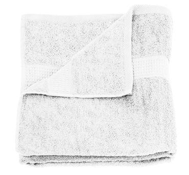 2 Duschtücher weiß 70x140 cm Set Baumwolle Frottee Duschtuch Frottiertuch groß – Bild 3