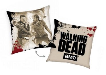 2er Set The Walking Dead Kissen 40x40 cm Nick Negan beige Dekokissen Wendekissen