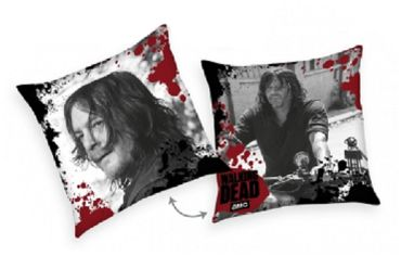 2er Pack The Walking Dead Kissen 40x40 cm Daryl Dixon Dekokissen Wendekissen Set