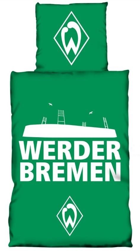 werder bremen bettw sche 135x200 cm glow in the dark gr n. Black Bedroom Furniture Sets. Home Design Ideas