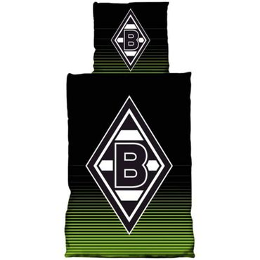 Borussia Mönchengladbach Bettwäsche 135x200 cm Glow in the Dark black Baumwolle – Bild 1
