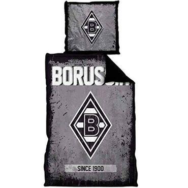 Borussia Mönchengladbach Bettwäsche  135x200 cm Since 1900 grau Microfaser – Bild 1
