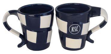 2er Set Karlsruher SC Tassen Schal KSC Tee / Kaffeebecher 0,3 Liter – Bild 1