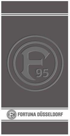 Fortuna Düsseldorf Duschtuch 70x140 cm Prägung grau Frottier Baumwolle Frottee – Bild 2
