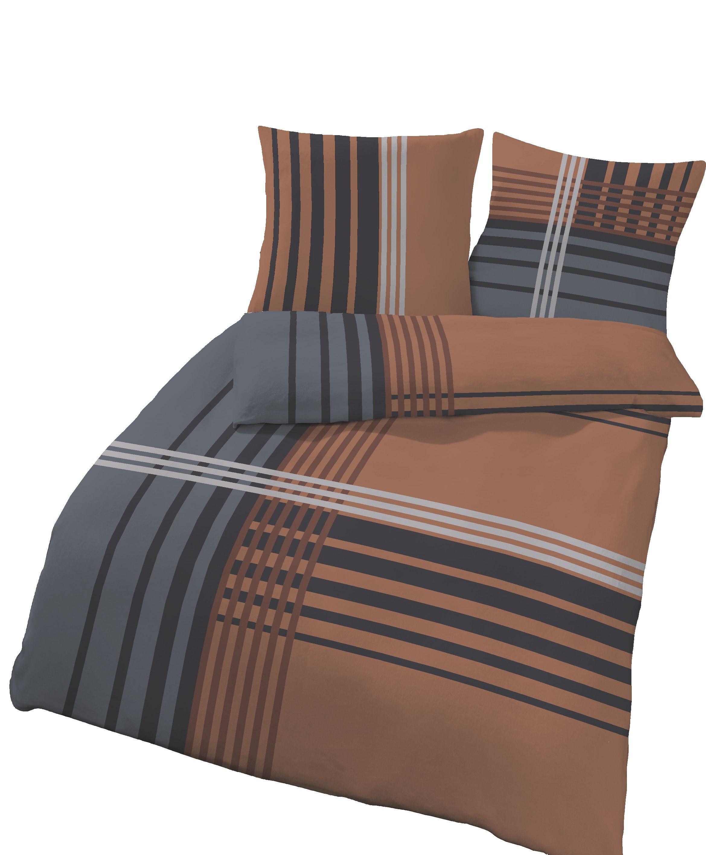 biber bettw sche 135x200 cm 40x80 cm anthrazit grau. Black Bedroom Furniture Sets. Home Design Ideas
